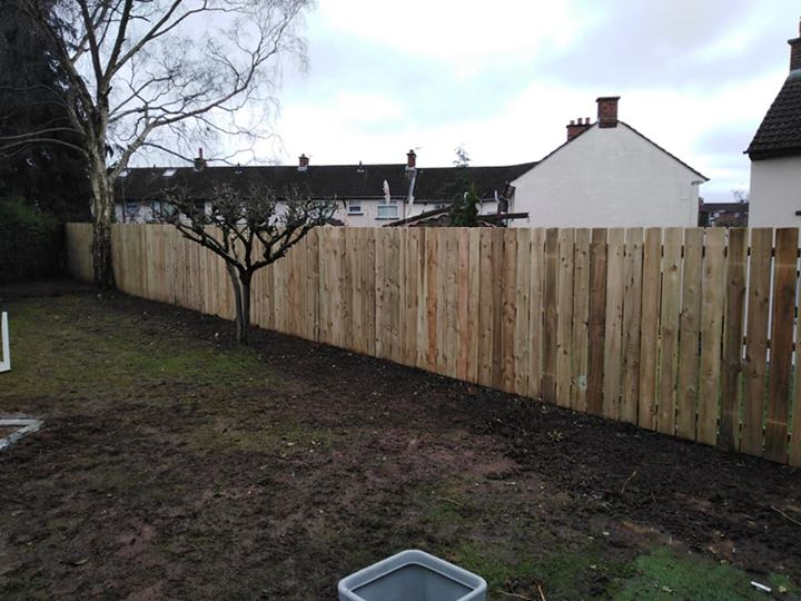 Hedge and trees removed with new fence constructed in Belfast. Also for the keen…